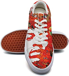 KK ldfd Jimi-Hendrix-Voodoo-Child- Fashion Sneaker Loafers for Women Canvas Upper Skate Shoes Slip-on Cut Low Top Lace up Flat Casual