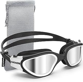 Swim Goggles, YAKAON Polarized Anti-Fog Swimming Goggles for Adult Men Women