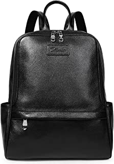 BOSTANTEN Damen Leder Rucksack Backpack Wanderrucksack Reiserucksack Schultasche modisch Schwarz