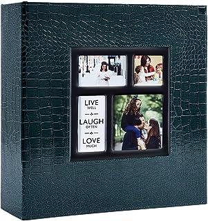 Ywlake Album Photo 1000 Pochettes 10x15cm Photos Grand Format Famille Mariage Classique Couverture en Cuir Crocodile (100 ...