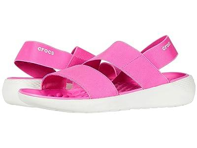 Crocs LiteRide Stretch Sandal (Electric Pink/Almost White) Women