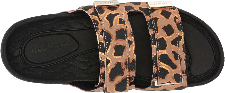 Kenneth Cole New York Women's Nova Two Band Slide Sandal, Natural/Black, 9