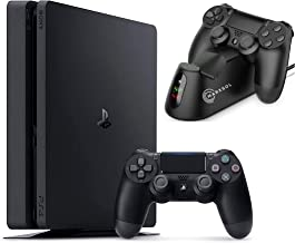2021 Sony Playstation 4 1TB Console - Black PS4 Slim Edition with 1TB Storage Holiday Bundle: 1 DualShock Wireless Control...