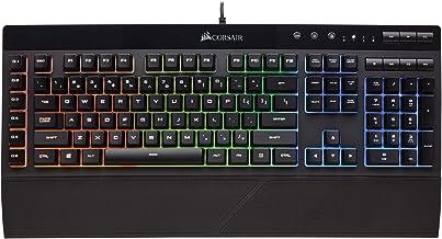 Corsair K55 RGB Gaming Keyboard – IP42 Dust and Water Resistance – 6 Programmable Macro Keys – Dedicated Media Keys - Deta...