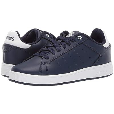 K-Swiss Clean Court (Big Kid) (Navy/White) Shoes