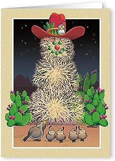 Tumbleweed Snowman Western Theme Christmas Card - 18 Cards &19 Envelopes
