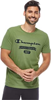 Crewneck T-Shirt For Men, Green, M