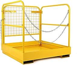 "Forklift Safety Cage Aerial Rails 36""x36"" inch Heavy Duty Steel Forklift Safety Work Platform Folds Down Lift Basket 1105l..."
