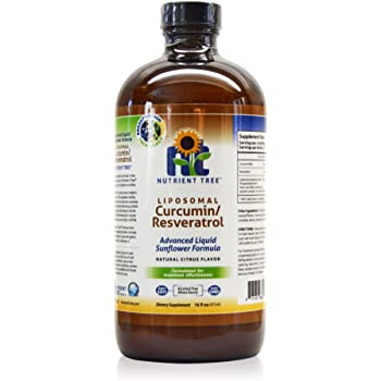 Nutrient Tree Liposomal Curcumin(Turmeric)/Resveratrol   78 Doses   Alcohol Free   Non-Soy   Non-GMO   Made in USA