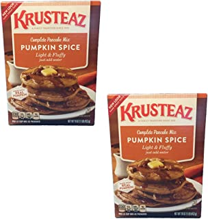 Krusteaz Pumpkin Spice Complete Pancake Mix - Made with REAL Pumpkin - 2 pack of 16oz boxes