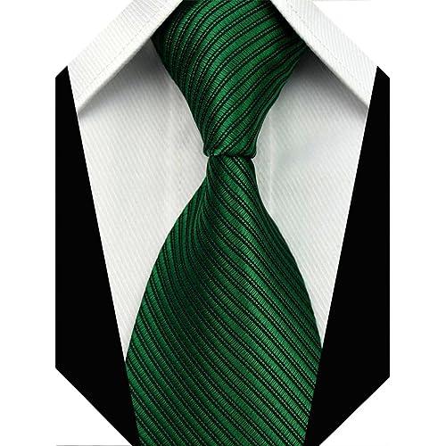 0de3d8e4f724 Wehug Men's Classic Tie Silk Woven Necktie Jacquard Neck Ties For Men