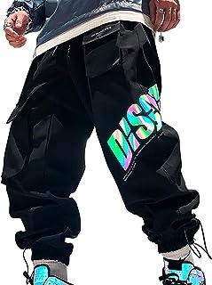 XYXIONGMAO Multi-Pocket Cargo Pants Functional Reflective Loose Casual Pants Streetwear Hip Hop Cargo Joggers Pants for Men