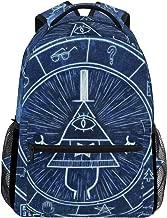 IMOBABY Bill Cipher Wheel Zodiac School Backpack Book Bag Travel Daypack