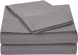 "Best Amazon Basics Lightweight Super Soft Easy Care Microfiber Sheet Set with 16"" Deep Pockets - Twin XL, Dark Grey Reviews"