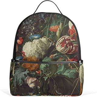 Mr.Weng Watercolor Boat Printed Canvas Backpack For Girl and Children