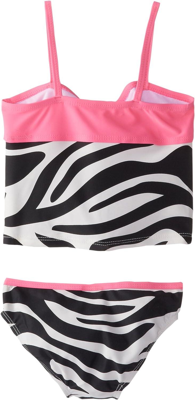 Osh Kosh Girls Zebra Print Tankini