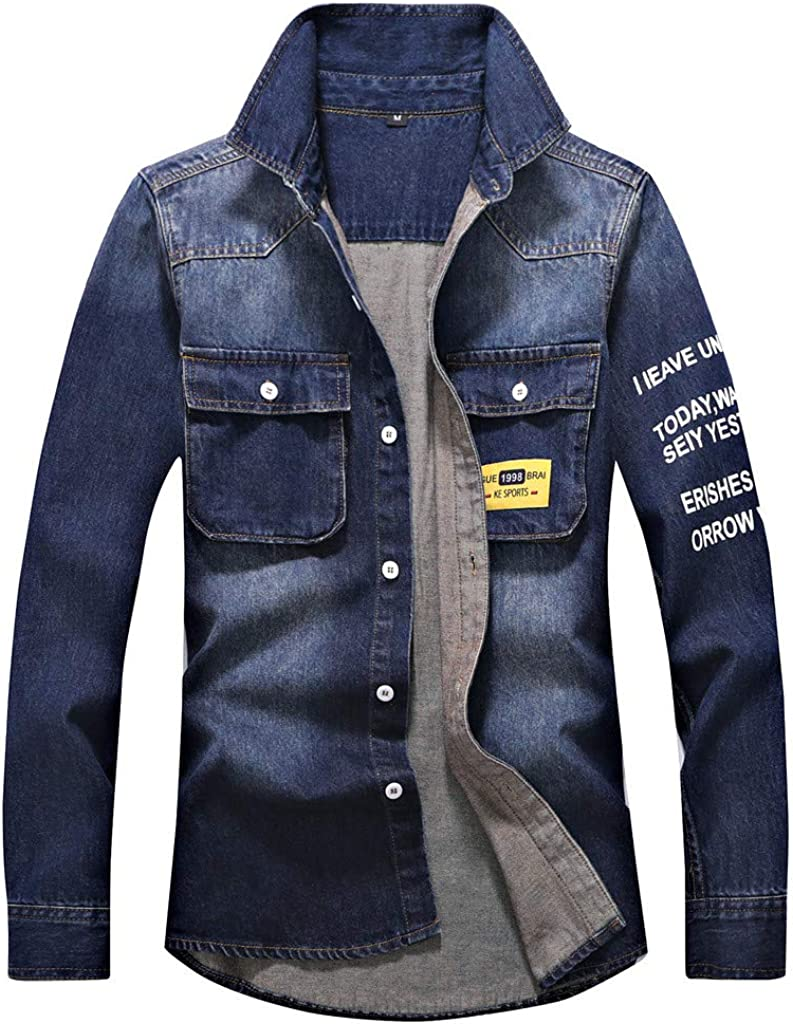 Coats for Men Max 76% OFF Jackets Autumn Casual San Diego Mall Wash Vintage Winter