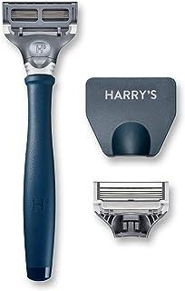 Harry's Men's Razor with 2 Razor Blades (Navy Blue)