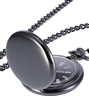 Mudder Smooth Antique Quartz Pocket Watch with Steel Chain