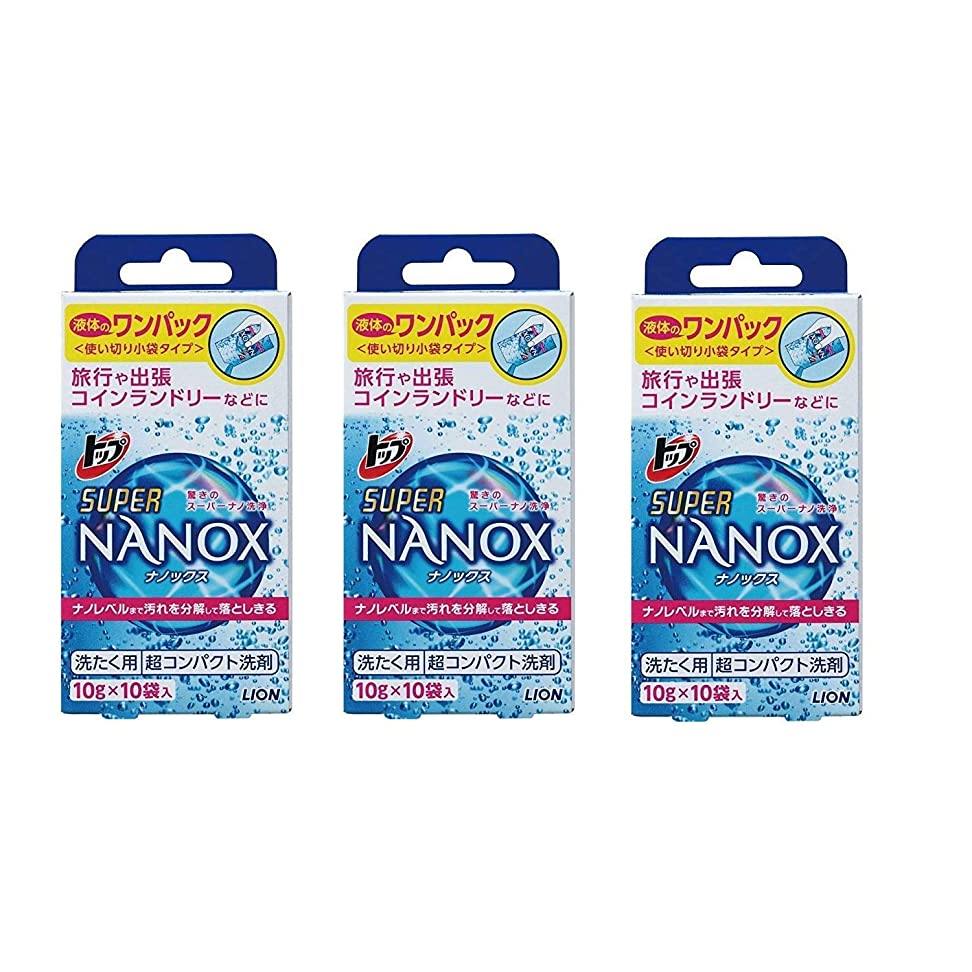 セールスマン儀式加入[セット品]トップ スーパーナノックス(NANOX) ワンパック 3個セット