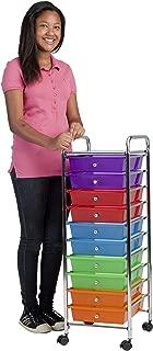 ECR4Kids 10-Drawer Mobile Organizer, Assorted Colors