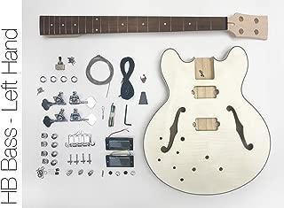 DIY Electric Bass Guitar Kit - Semi Hollow Left Hand Bass