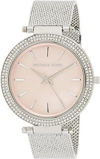 ساعة دارسي للنساء بعرض انالوج ومينا زهري وسوار ستانلس ستيل من مايكل كورس - MK4518