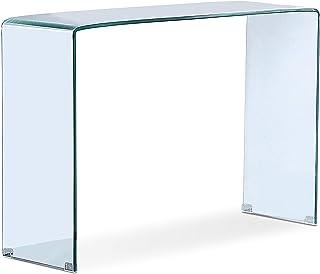 Adec - Glass, Recibidor de Cristal, Mueble Entrada Consola,