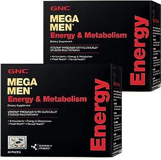 GNC Mega Men Energy & Metabolism Vitapak, Twin Pack, 30 Packs per Box, Promotes Energy, Heart Health and Sexual Health