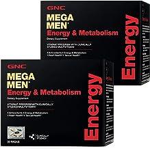 GNC Mega Men Energy & Metabolism Vitapak, Twin Pack, 30 Packs per Box, Promotes..