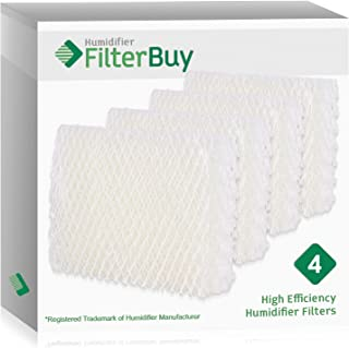 FilterBuy Replacement Humidifier Filters Compatible with Emerson HDC-12 (HDC12) & Sears Kenmore 14911. Pack of 4