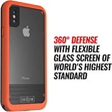 Waterproof Case for iPhone X - Dog & Bone Wetsuit Impact Rugged iPhone X Case (Orange/Black)