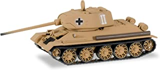 T-34/85 Tank - Assembled -- East Prussian Army (Captured, tan, German Lettering)