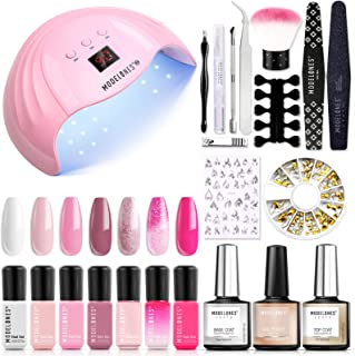 Gel Nail Polish Kit with UV Light Starter Kit Modelones Gel Polish Set- 7 Colors with 10ml Nail Primer and Base Top Coat, ...