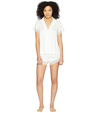Eberjey Malou Short Sleeve PJ Set (Ivory) Women