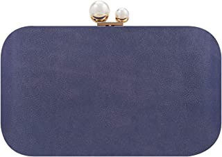 Fawziya Clutch Purses For Women Double Pearl Bright Leather Evening Bags And Clutches