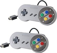 Link-e ® : Lot de Deux manettes de Jeu pour Console Super Nintendo Snes Mini Classic Edition