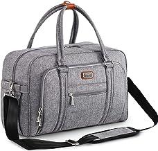 Bolsa de Pañalera WEAVILA, bolso para pañales unisex con almohadilla para cambiar y bolsillos aislados para Mamá y Papá, bolsa de viaje convertible, gris