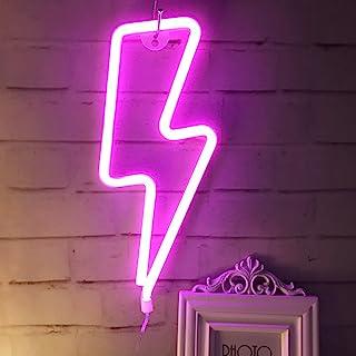 QiaoFei Leuchtendes Neonlicht, LED-Lichtschild, Wanddekoration für Weihnachten, Geburtstag, Kinderzimmer, Wohnzimmer, Hoch...