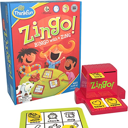 ThinkFun Zingo Bingo Award Winning Preschool Game for Pre-Readers and Early Readers Age 4 and Up - One of the Most Po...