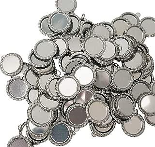 100 Pieces Flattened Bottle caps Double Sided, Wholesale Bottle Caps Caps with Split Ring, Silver Bottle Caps Crafts Pendants, Necklaces, Jewelry