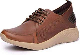 Buckaroo ADELIO Mens Derby Genuine Leather Denim Classic Shoes Lace Up