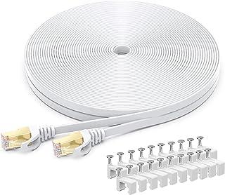BUSOHE Cavo Ethernet Cat 7 da 20 Metri, Cavo di Rete LAN Piatto Gigabit RJ45 ad Alta velocità, Cavo Patch Internet 10Gbps ...