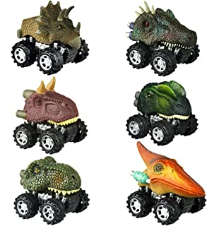 Dinosaur Toys for 3-6 Year Old Boys, Pull Back Dinosaur Cars for Kids Pull Back Vehicles Toys for Age 3-7 Boys Toy Cars Di...
