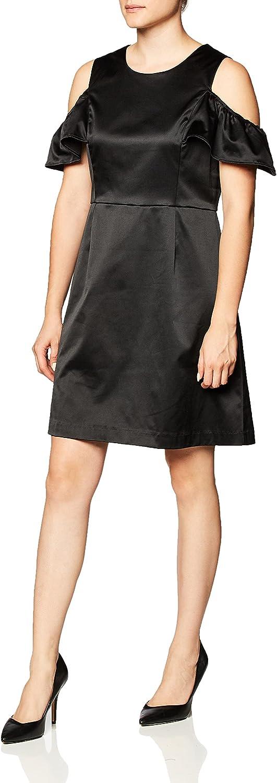 PARIS SUNDAY Women's Cold Shoulder Sateen A-Line Tank Dress