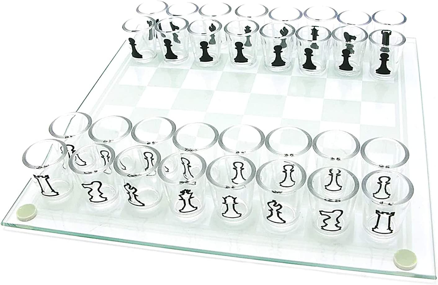 Lomubue Drinking outlet Game Chess Board Set Ch Clear Glass Popular standard Shot Small