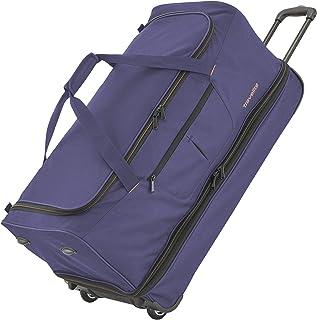 Travelite 2-Rad Trolley Reisetasche Gr. L mit Dehnfalte, Gepäck Serie BASICS: Weichgepäck Reisetasche mit Rollen mit extra Volumen, 096276-20, 70 cm, 98 Liter erweiterbar auf 119 Liter marine