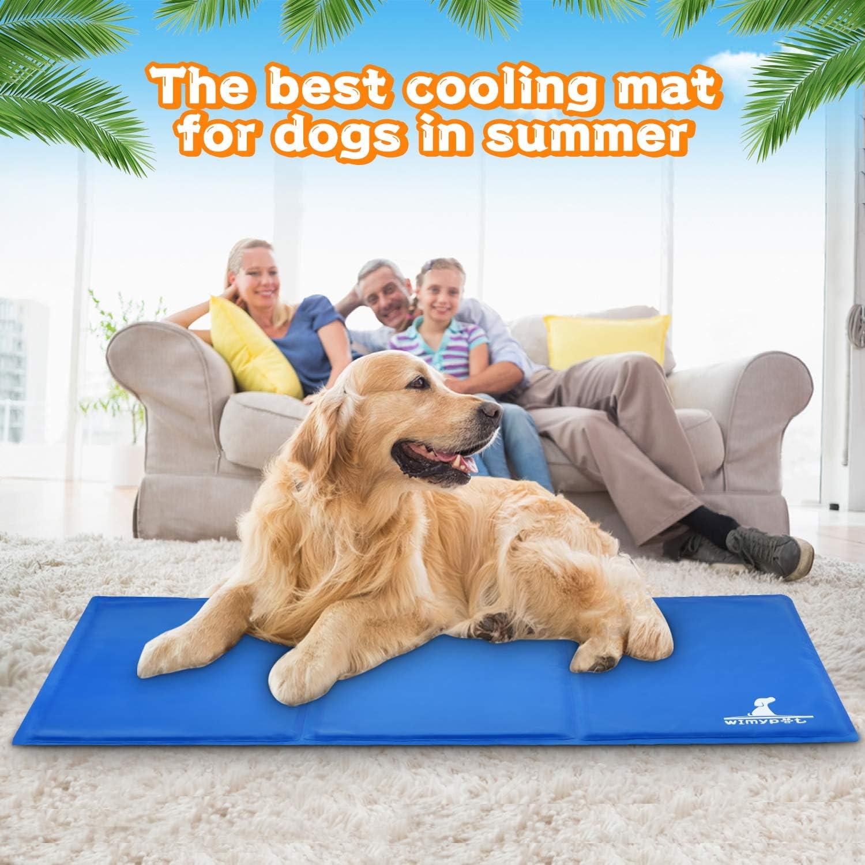 Wimypet Dog Cooling Mat, Large Pet Cool Mat Non Toxic Bed Ice Gel ...