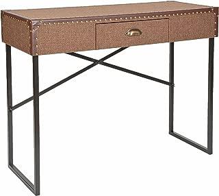 ts-ideen - Escritorio mesa depósito aparador para sala oficina computadora de trabajo consola estilo vintage cofre maleta marrón