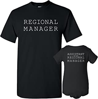 Regional Manager - Funny Joke Adult T Shirt & Infant Creeper Bundle